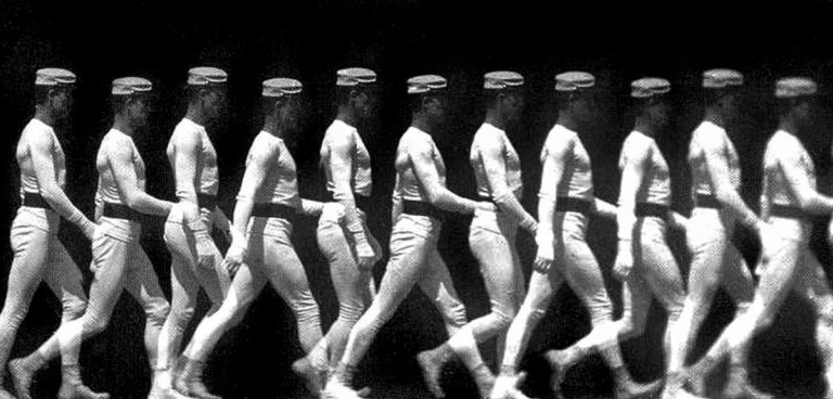 Man walking, chronophotography by Etienne-Jules Marey, c. 1886