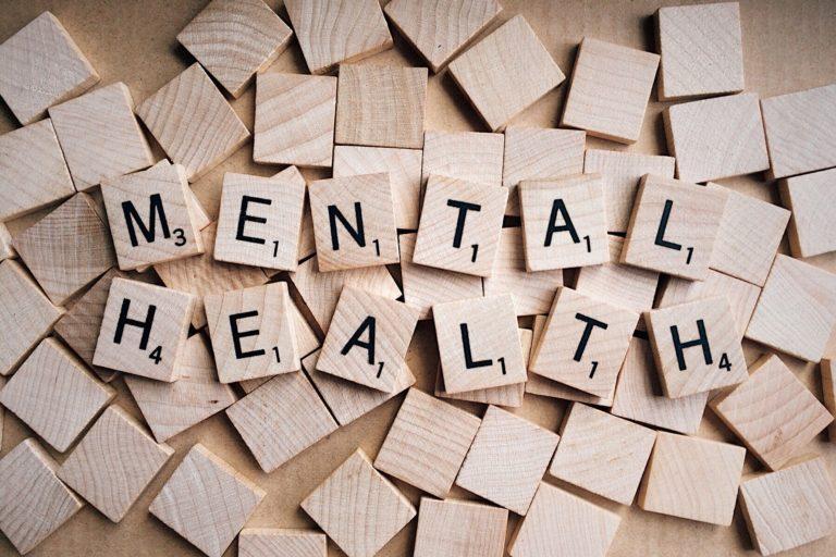 santé mentale pièces de scrabble