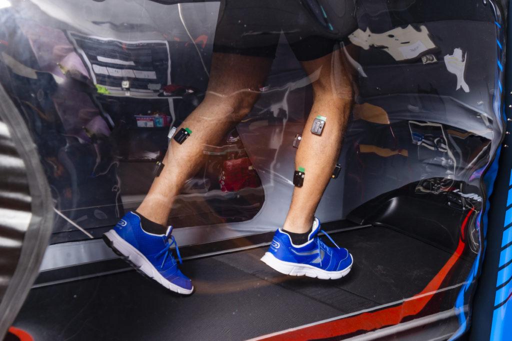 capteurs sur une jambe